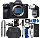 Sony a7R IV Mirrorless Digital Camera Bundle with GODOX Flash, Peak Design Strap, 64GB Memory Card, Water Resistant Gadget Bag, Accessory Rollup, Monopod, Eyecup + More (11 Items)   Sony Alpha 7R IV