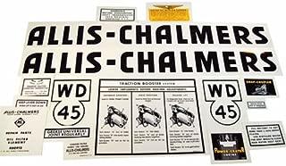 Mylar Decal Set - Black Letters Allis Chalmers WD45