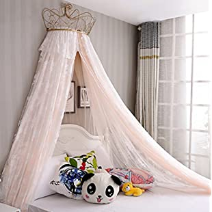X&M Princess bed canopy mosquito netting dome with锛孭remium mosquito net for double bed,Insect protection repellent shield for home & travel-A 1.5m