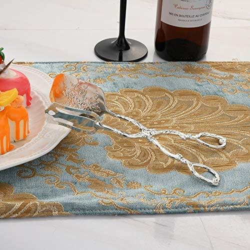XGQ Retro Zinc Aleación Cubiertos Cake Fruit Postre Ensalada Clip (Color : Square Head Silver Clip)
