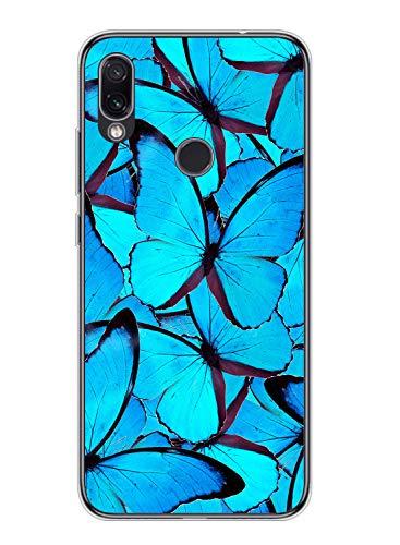 Suhctup Compatible con Xiaomi Mi Note 10 Lite Funda de Transparente Silicona con Dibujos Mariposa Lindo Diseño Patrón Cárcasa Ultrafina Suave TPU Antigolpes Bumper Protección Caso-A10