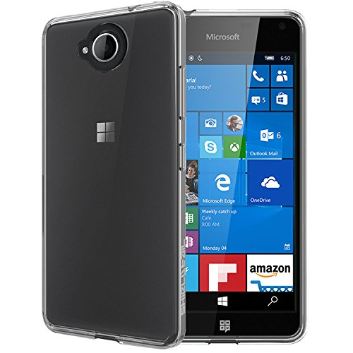 Case Creation Ultra Thin Full Flexible Soft Corner Guard with TPU Slim Back Case Back Cover for Microsoft Lumia 650