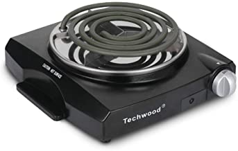 Techwood 1100W Portable Electric Coil Hot Plate Single Burner for Cooking, Countertop..
