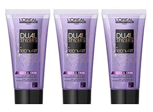 Loreal Sleek & Swing 3 x 150 ml Dual Stylers Tecni.art Smooth Glättung für kräftiges & widerspenstiges Haar