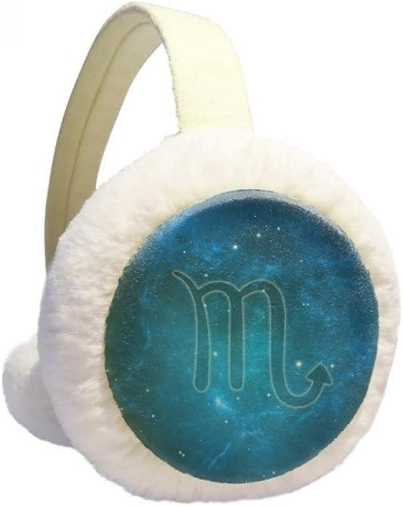Starry Night Scorpio Zodiac Constellation Winter Ear Warmer Cable Knit Furry Fleece Earmuff Outdoor