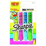 Sharpie Ink Indicator Tank Highlighters, Chisel Tip, Assorted Fluorescent, 4 Count