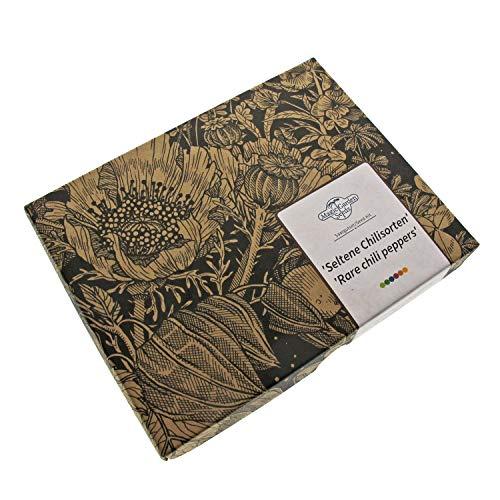 Kit Cadeau de graines: 'Rares graines de Piment Fort', 6 variétés de Piment relativement inconnues avec des arômes exceptionnels