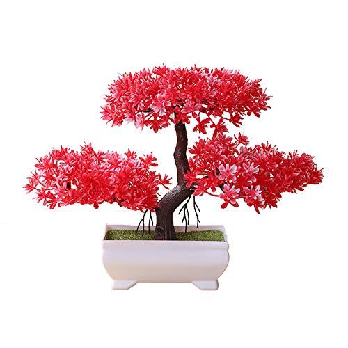 display08 Plante Artificielle en Pot pour bonsaï en pin