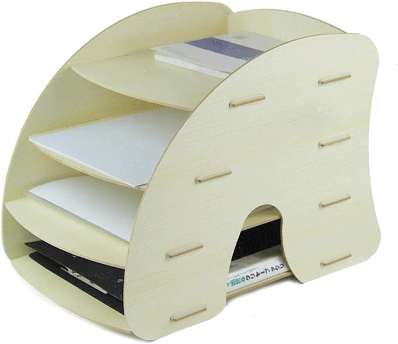 Dateiracks Dateiracks Dateiracks Aktenordner Office-Desktop-Aufbewahrungsbox aus Holz Multi-Layer-Datendatei-Rack (Farbe   D) B07PLS3LXQ | Neue Sorten werden eingeführt  af4df3