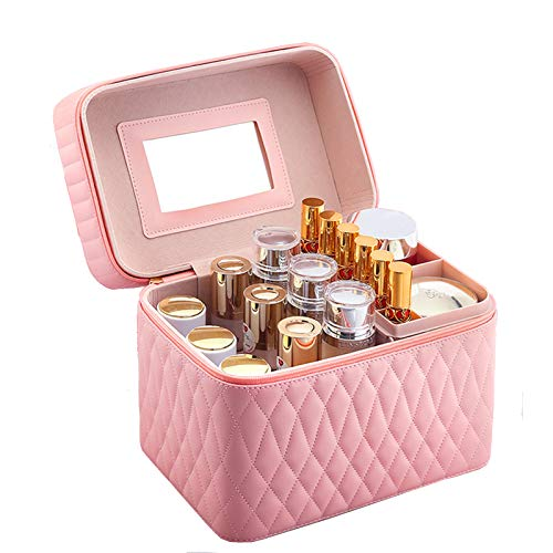 Make Up Case Makeup Box Vanity Beauty Case Organiser,Pink