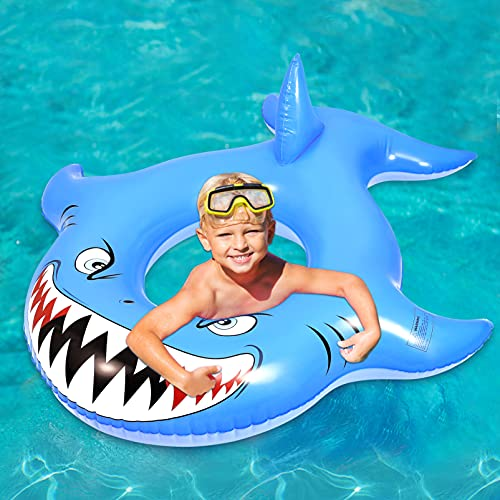 CLISPEED Inflatable Shark Pool Float, Floatie Water Fun Summer Beach...