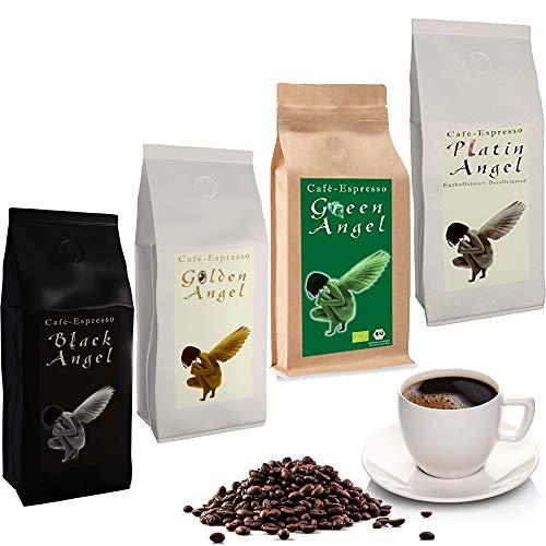 Espresso Probier Paket Cafe / Kaffeebohnen 4 x 150 g ganze Bohne