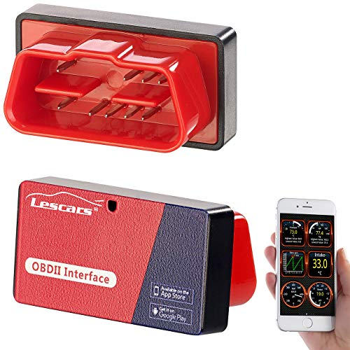 Lescars OBD Adapter: OBD2-Adapter mit ELM327-Chip und Bluetooth, für Smartphones (OBD Adapter iOS)
