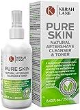 Kerah Lane Pure Skin - Toner et nettoyant naturel pour éliminer les poils incarnés, l'acné, les bosses du rasage. Utiliser après le rasage et l'épilation 250mL