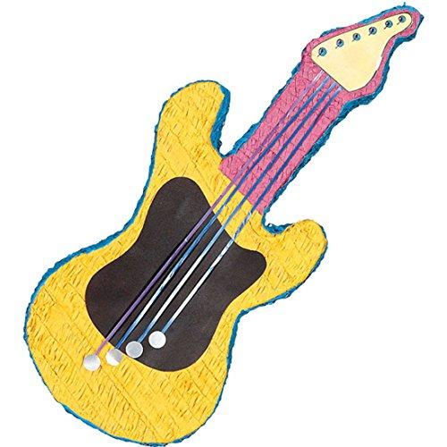 erdbeerparty - Party Dekoration- Piñata Rock Star Gitarre, 78cm, Mehrfarbig