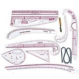 Regla francesa Curva Regla de corte de herramientas de costura Set yardstick manga del brazo francesa Curva Cut Cortar Cuchillo reglas 10estilo diseño