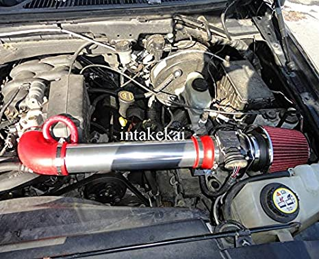 High Performance Parts Short Ram Air Intake Kit /& Black Filter Combo Compatible for 1997-2003 F-150 F150 4.2 V6 Engine