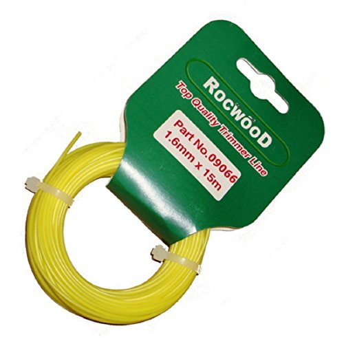 Cable de nailon para cortacésped, 1,6mm x 15m, para Flymo y Bosch