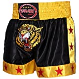 Farabi Muay Thai Short Kickboxing MMA Mix Martial Arts Training Short Boxing Trunk (M)