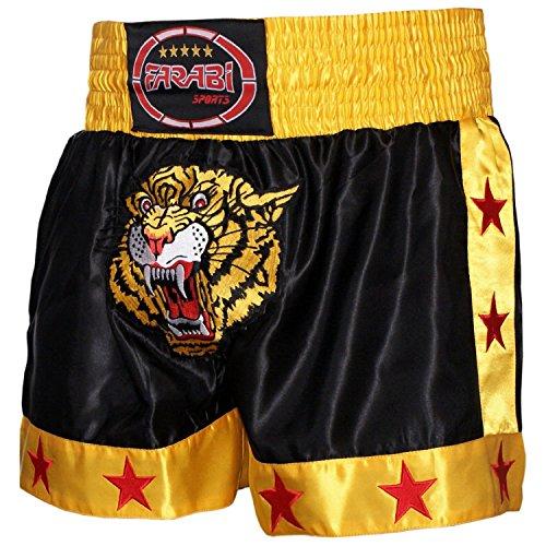 FARABI Muay Thai Short Kickboxing Training Martial Arts Boxing Trunk (L)