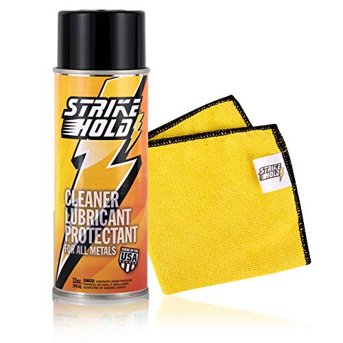Strike Hold 12 Ounce - Gun Oil Lube, CLP Gun Cleaner and Lubricant, Gun Cleaning Solvent and Oil, Gun Grease Lubricant, Gun Lube and Cleaner, Gun Oil and Cleaner