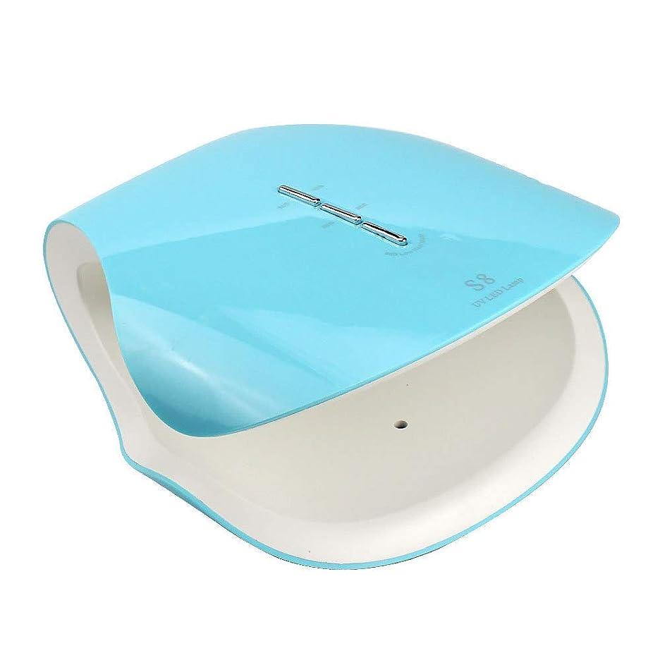 アリ謙虚ウィスキー48ワットプロ硬化ネイルドライヤー機ネイルランプサロン機器uv ledライト療法ジェルポリッシュランプ適切なマニキュア、ブルー