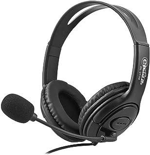 سماعة راس للالعاب مزودة بميكروفون / AUX جاك، مستوى الصوت للاعلى / للاسفل، متوافقة مع اجهزة الكمبيوتر الشخصية، MAC، XBOX ON...