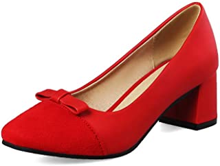 BalaMasa Womens Comfort Bows Casual Urethane Pumps Shoes APL10517