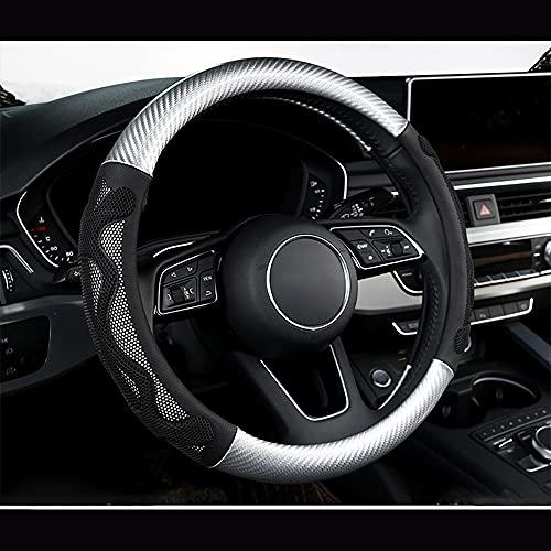 HJPOQZ Cubierta del Volante del Coche De Cuero Tipo O Y D, para Buick Regal Encore Lacrosse Excelle XT Verano EnclavePlata Redonda