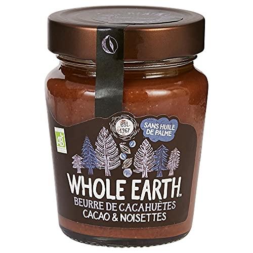 Whole Earth Beurre de Cacahuètes Bio Cacao & Noisettes – Pâte à Tartiner Sans Huile de Palme – Texture Crémeuse – 1 pot – 227 g
