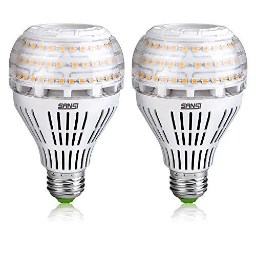 SANSI 22W (lampadina a LED equivalente 200W), lampadina a LED 3000K, lampadina da 3000lm, illuminazione bianca calda, non dimmerabile, confezione da 2
