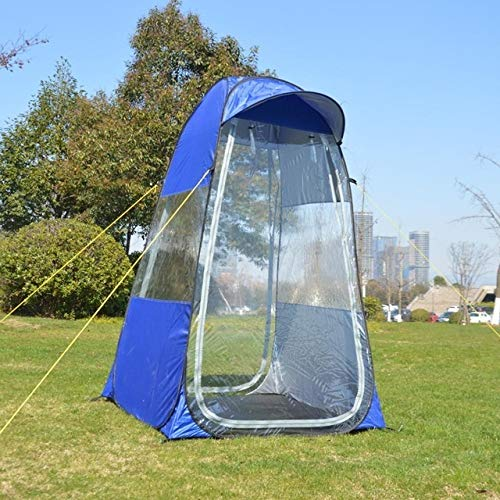 Privacy Tent for Portable Toilet Portable Privacy Shower Toilet CampingTent photography tent movable outdoor winter fishing tent with special cap brim Easy Set Up (Color : Blue)