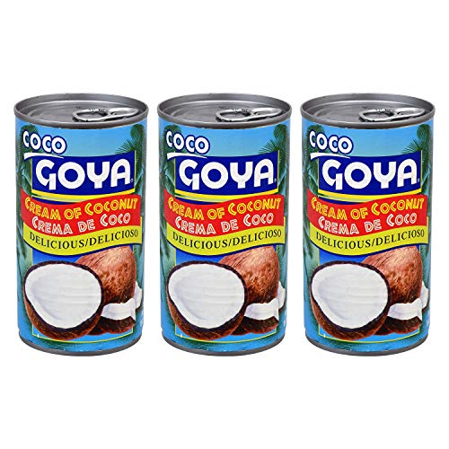 Goya Crema de Coco - Cream of Coconut (3 Pack, Total of 45oz)