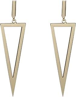 Women's Triangle Earrings Metal Hollow Geometric Triangle Dangle Drop Earrings Costume Jewelry