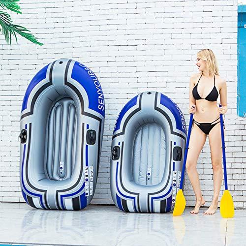 Raspbery Botes inflables para 2 Personas Kayak Kayak Inflable Plegable Bote de Pesca Engrosado con Remo Bomba de pie Canoa Bote de Deriva a Prueba de desgarros Bote Inflable, cargable 140kg