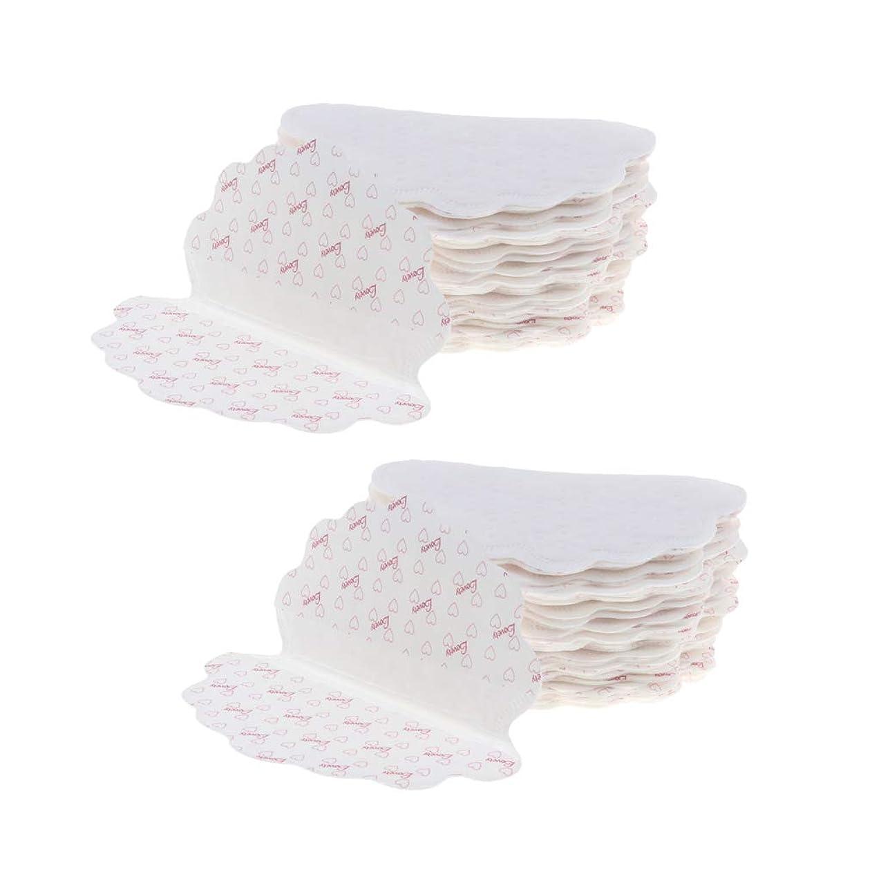 暴力反対する具体的にP Prettyia 40個 使い捨て 脇の下脇の下汗パッド ドレス ガードシールド ホワイト