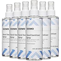 6-Pack Solimo Hand Sanitizer Spray, 8 Oz