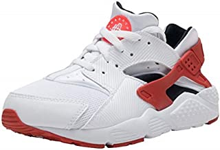 Nike Huarache Run PS Little Kids Running Shoes, 12C, White/Gym Red-Bright Crimson