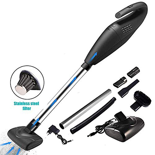 Check Out This NSCHJZ Handheld Vacuum, 120W 5000PA Rechargeable Car Vacuums Wet & Dry Cleaning - wit...