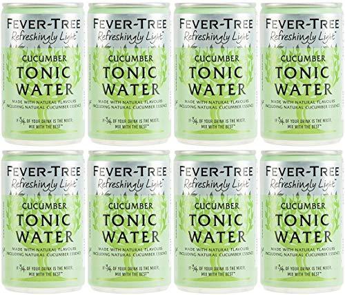 Fever-Tree Refreshingly Light Cucumber Tonic Water, 8 x 150ml