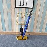CDFD Soporte de sombrilla de Hierro para Percha Larga y Corta Sombrilla de Playa de Dibujos Animados, BM39-Gold