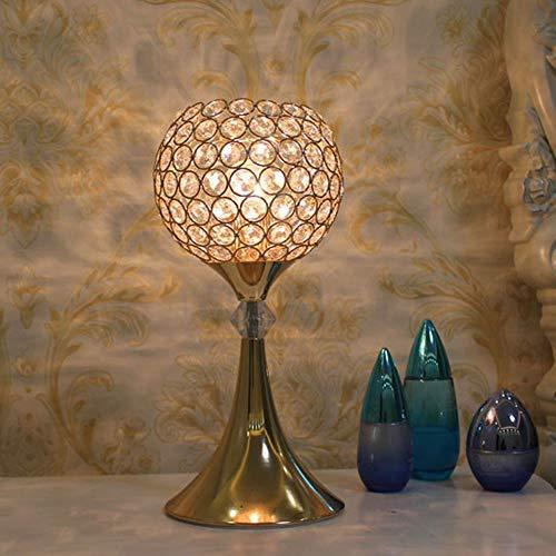 Yilingqi-1 Europese stijl kristallen tafellamp eenvoudige moderne afstandsbediening tafellamp slaapkamer nachtkastje gouden tafellamp