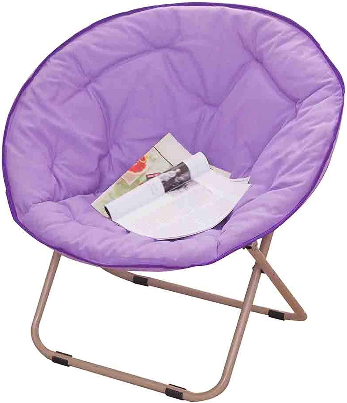 CAIJUN Chair Household Multifunction Foldable Portable Large Comfortable Soft Non-Slip Whole Outfit, 7 colors (color   Purple, Size   52x51x76cm)
