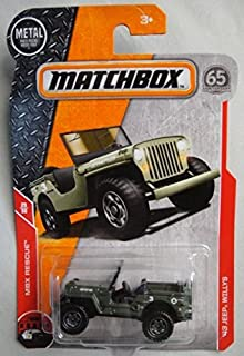 Matchbox 2018 MBX Rescue '43 Jeep Willys 121/125, Green