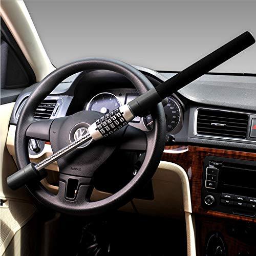 universell Verstellbar sch/ützt vor Auto-Diebstahl xj Auto Diebstahlsicherung Lenkradkralle Absperrstange Twin Bar Lock Auto Diebstahlsicherung Lenkradkralle Lenkradkralle aus geh/ärtetem Stahl