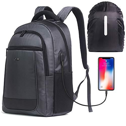 FILSIM® laptop- en tablet-pc-rugzak USB-poort voor powerbank en waterdichte rugzakhoes met trolleyriem Handbagage Unisex-rugzak