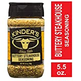 Kinder's Buttery Steakhouse Seasoning, 5.5 oz; Taste of Melted Butter Over Steak; Generously Rub...