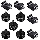 10Pcs 1/4 Inch Hot Shoe Mount and Cold Shoe Mount for Flash Stand Adapter, Camera Mount Screw for Flash to Tripod Screw, Shoe Adapter for DSLR Monitor Mount