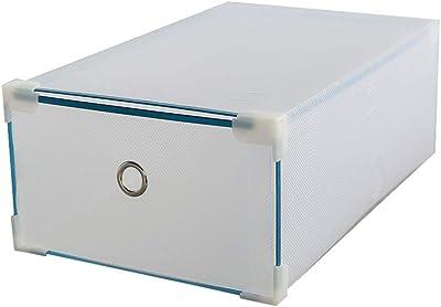 WBBXJ Estante para Zapatos, Ribete de Metal y cajón Caja de Zapatos Zapatos de plástico Grueso translúcido Caja de consolidación de Almacenamiento (Tamaño : 12 Boxes): Amazon.es: Hogar