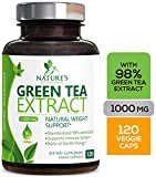 Green Tea Extract 98% Standardized EGCG Weight Loss 1000mg - Boost Metabolism for Healthy Heart -...